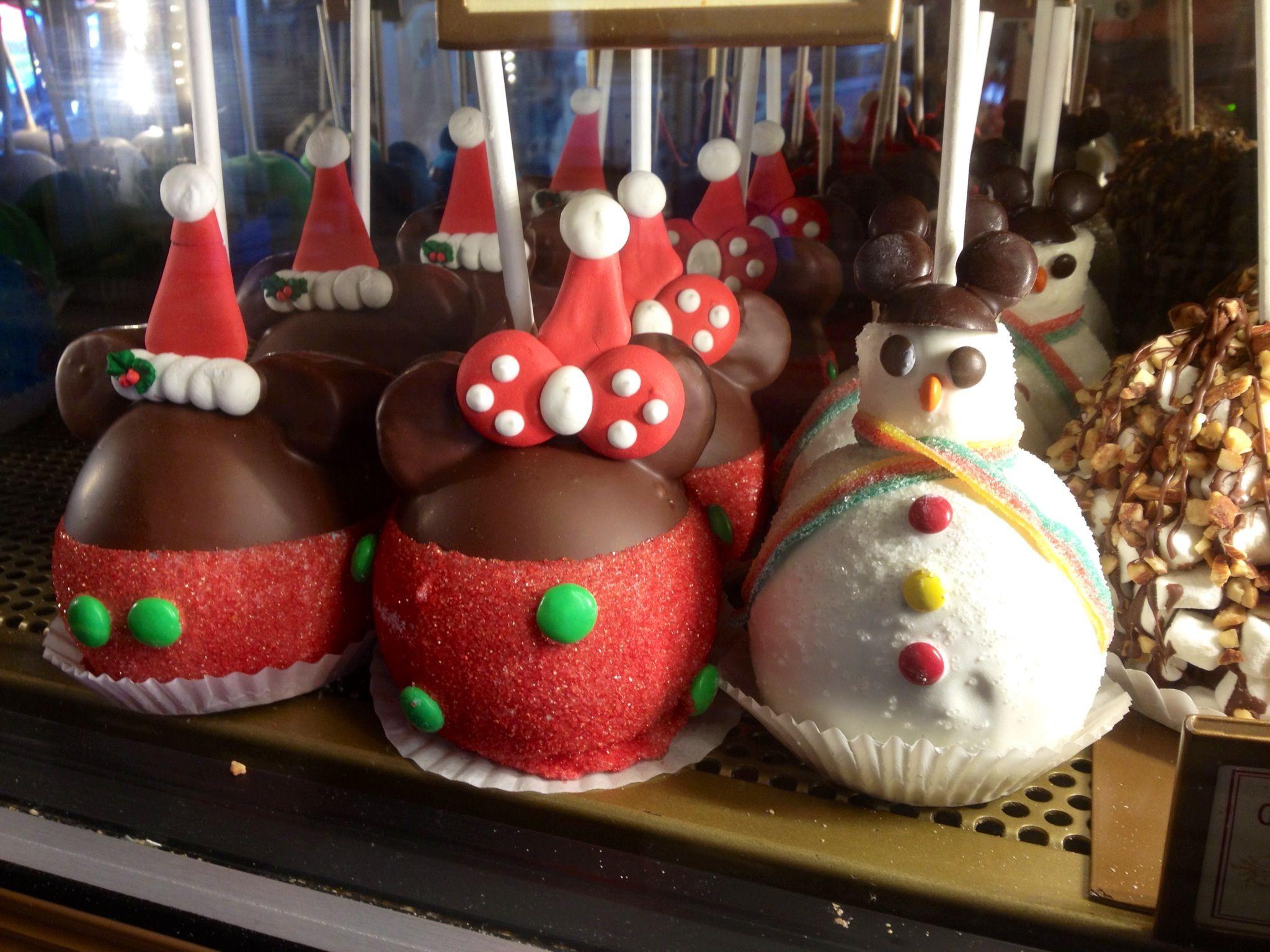 Christmas Candy Apple Ideas  Holiday Caramel Apples at Disneyland