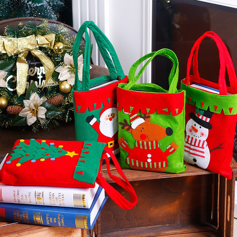 Christmas Candy Bags  Smiry 1pc Christmas Decoration Supplies For Home Santa