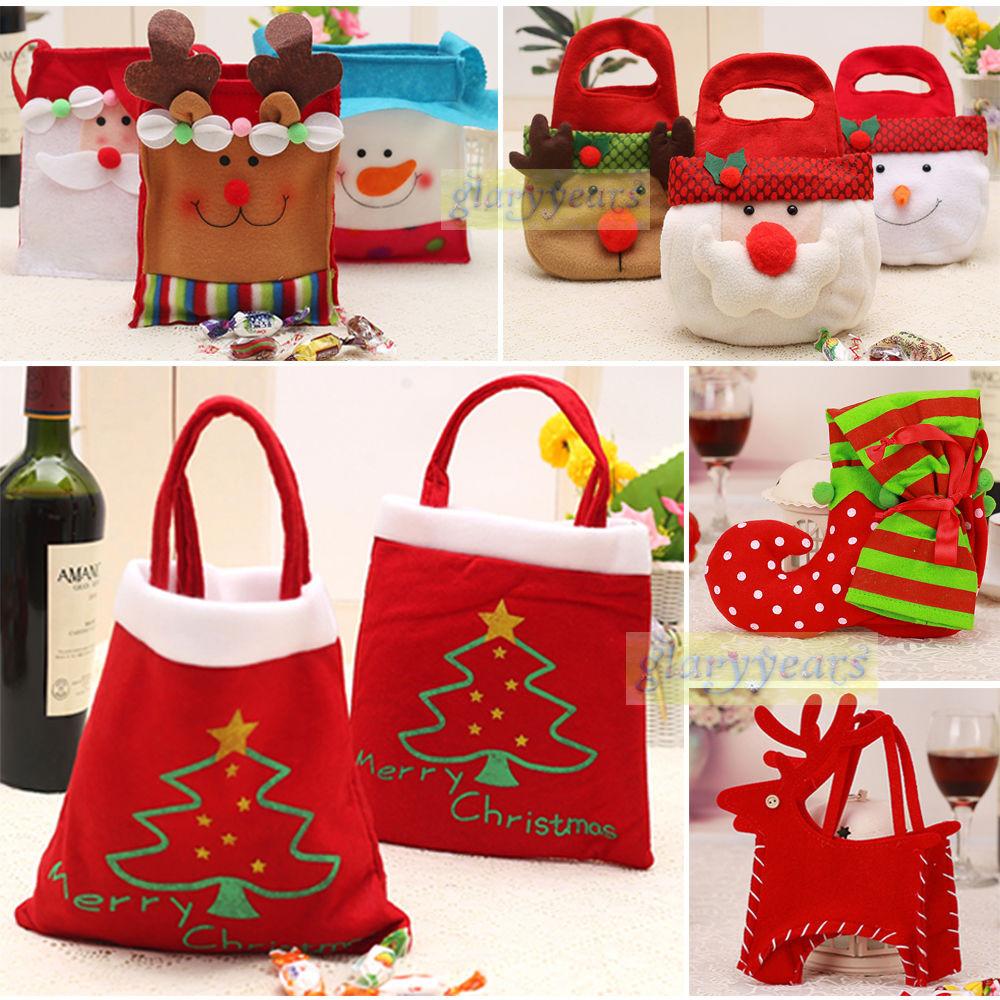 Christmas Candy Bags  Santa Claus Christmas Candy Bag Elf Elk Pants Treat Pocket