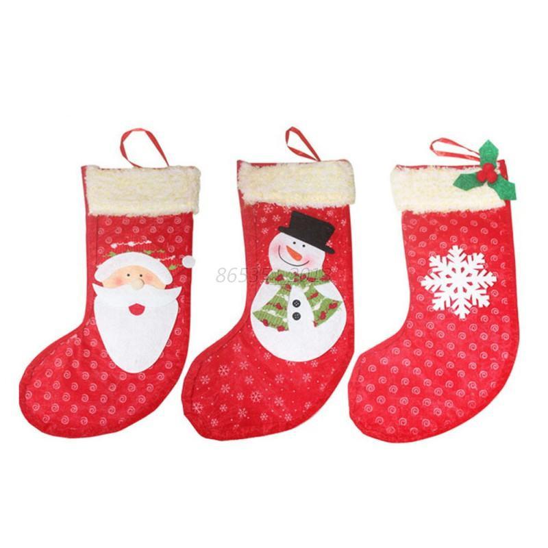 Christmas Candy Bags  Chic Christmas Candy Bag Santa Claus Apple Bag Socks