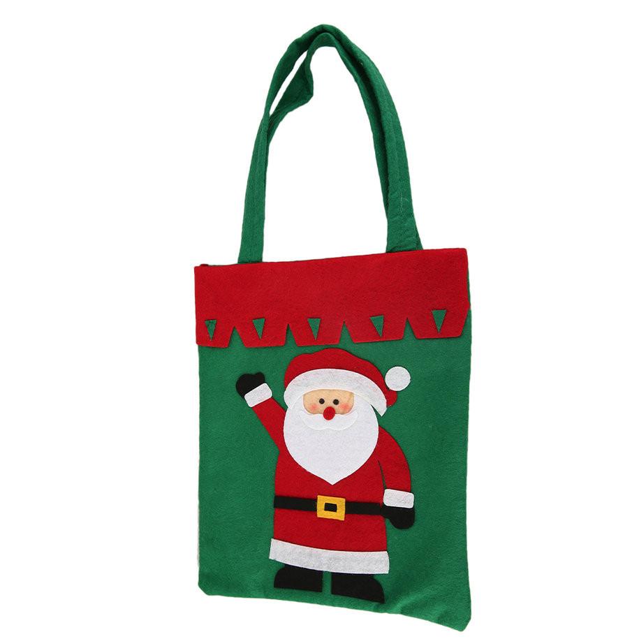 Christmas Candy Bags  Santa Claus Christmas Stocking Gift Bags Christmas Candy