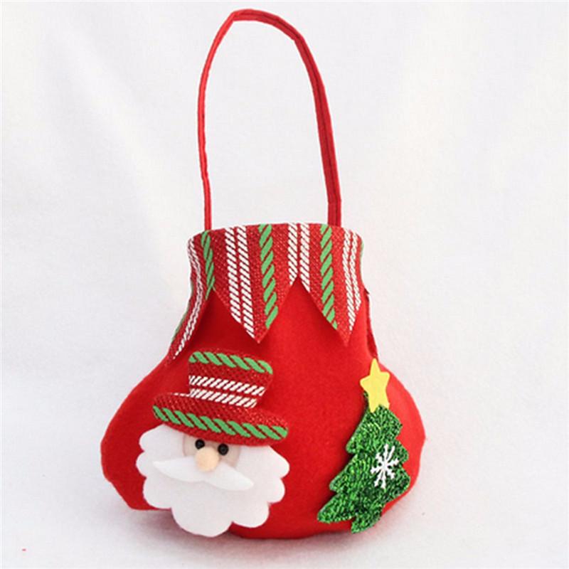 Christmas Candy Bags  Christmas Candy Bag Santa Claus Snowmen Elk Gift Bag Fruit