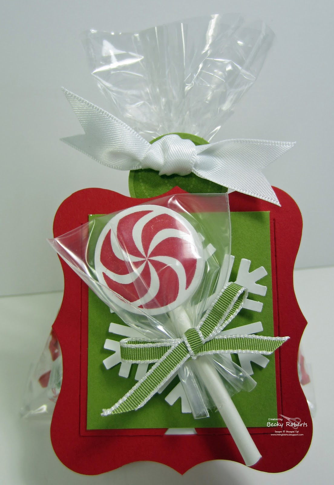 Christmas Candy Bags  Inking Idaho Peppermint Lollipop Candy Bags