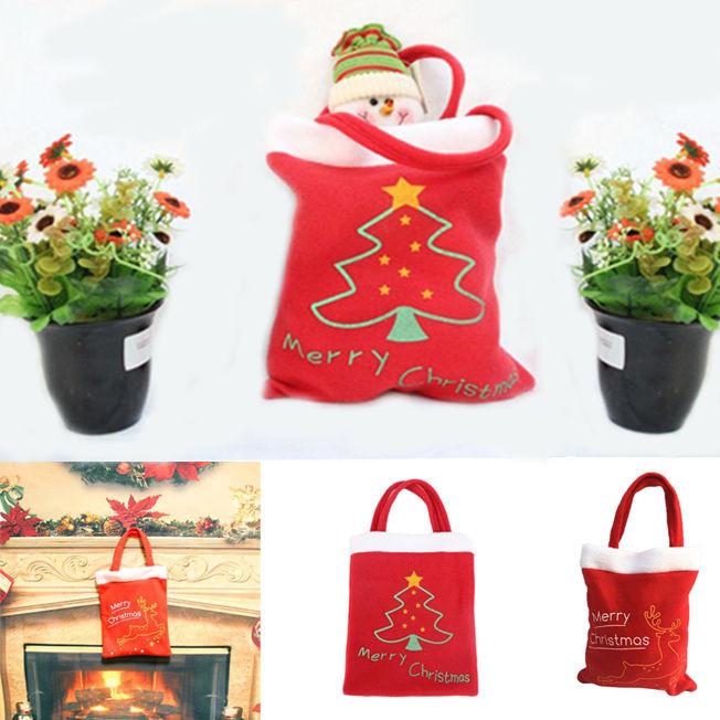 Christmas Candy Bags  1PC Christmas Gift Bag Candy Bag Merry Christmas Candy