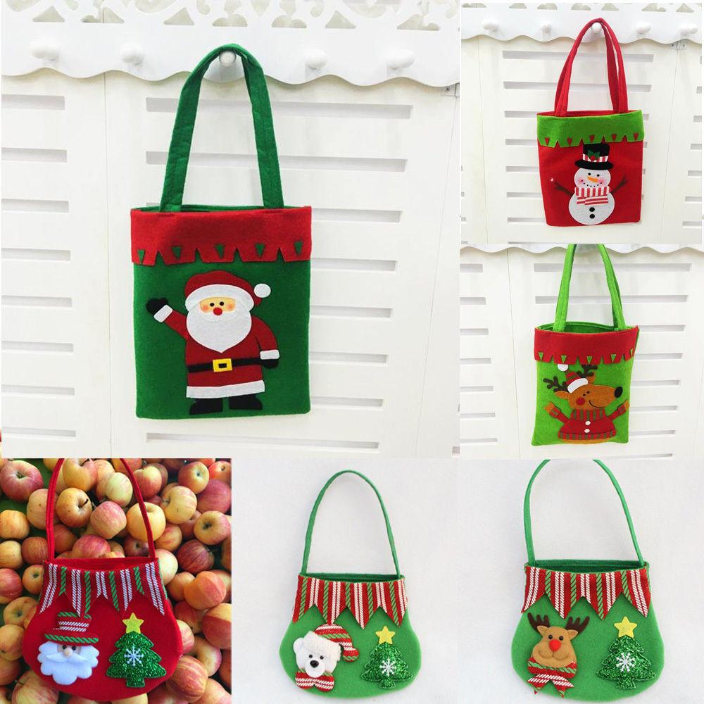 Christmas Candy Bags  Christmas Santa Gift Bag Candy Bag Merry Christmas Candy