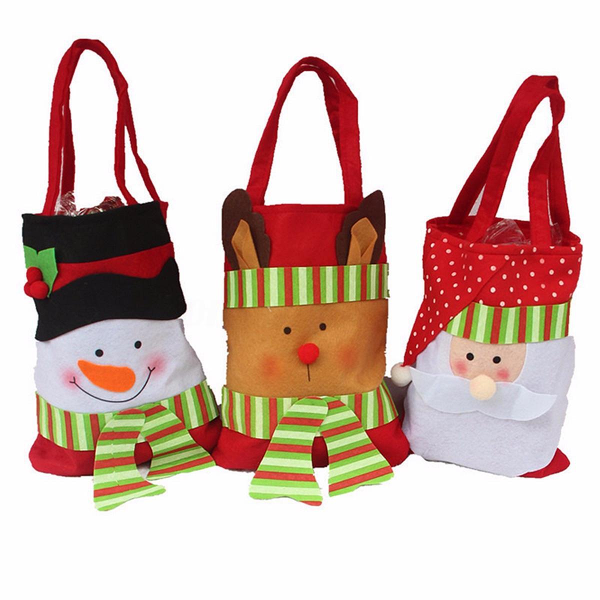 Christmas Candy Bags  NEW Christmas Santa Claus Snowman Decoration Xmas Gift Bag