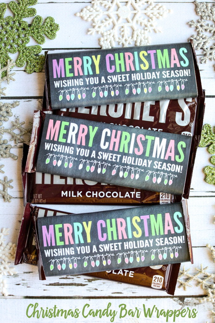Christmas Candy Bar  Merry Christmas Candy Bar Wrappers