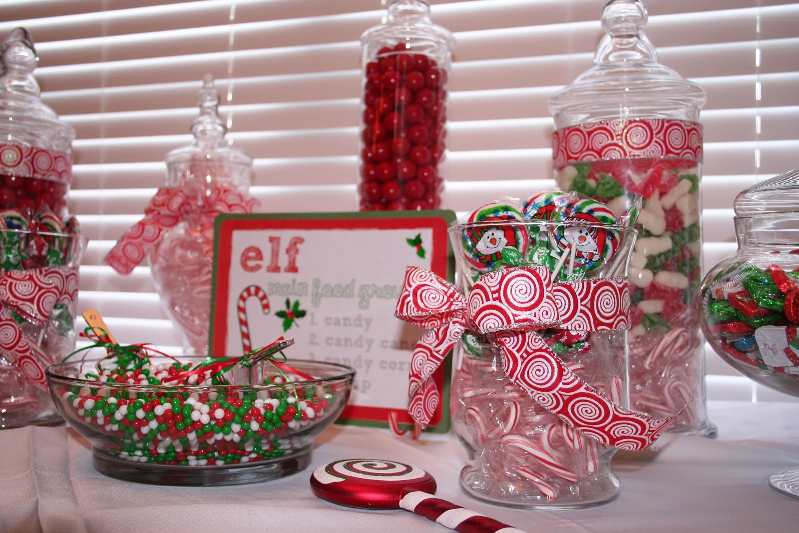 Christmas Candy Bar  Classic Events By Kris Christmas Candy Buffet