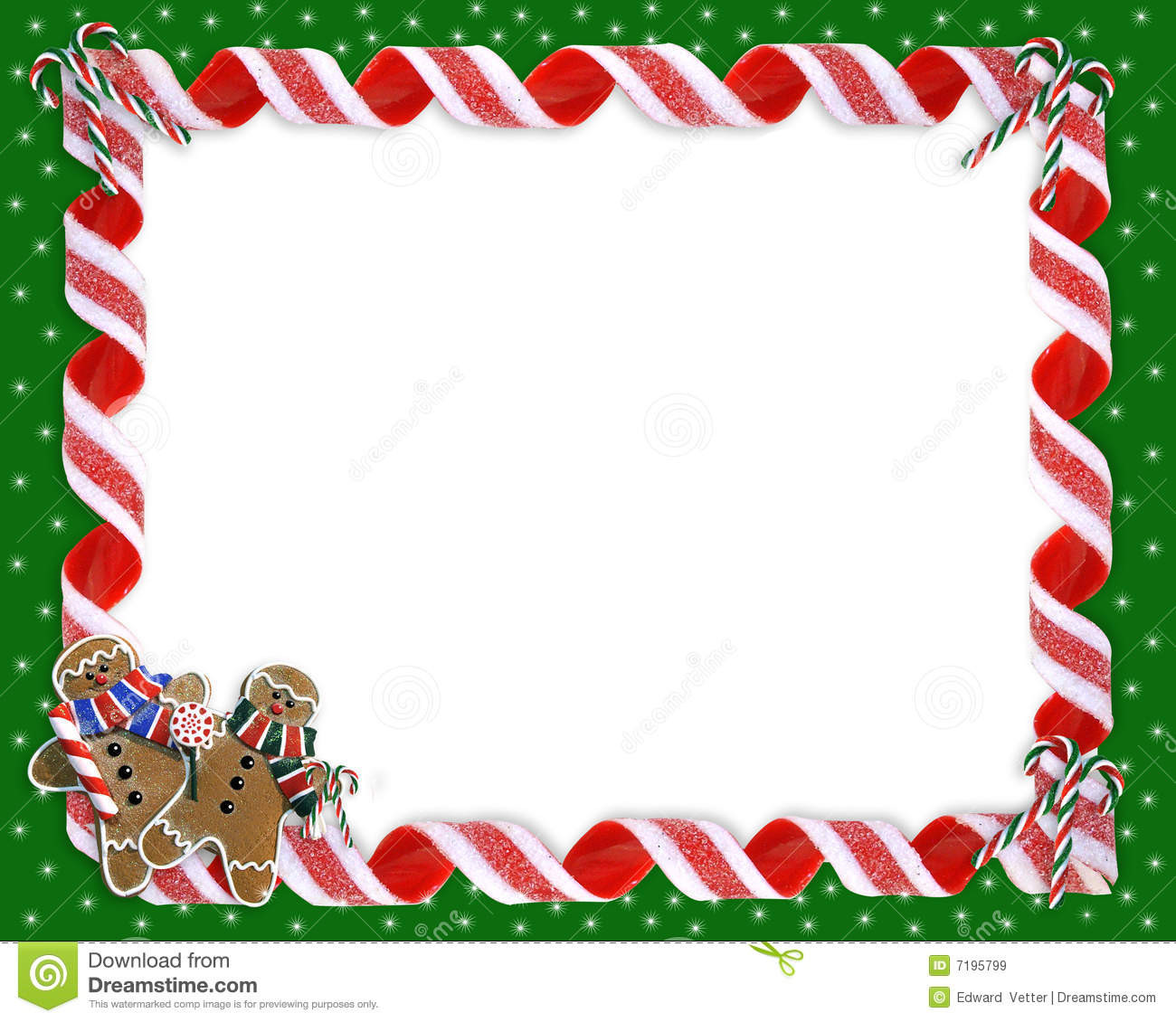 Christmas Candy Border  Christmas Border Cookies And Candy Royalty Free Stock