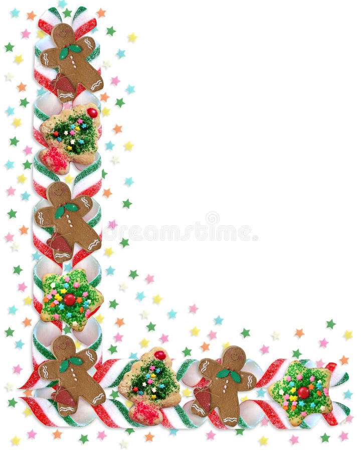 Christmas Candy Border  Christmas Border Cookies And Candy Stock Illustration