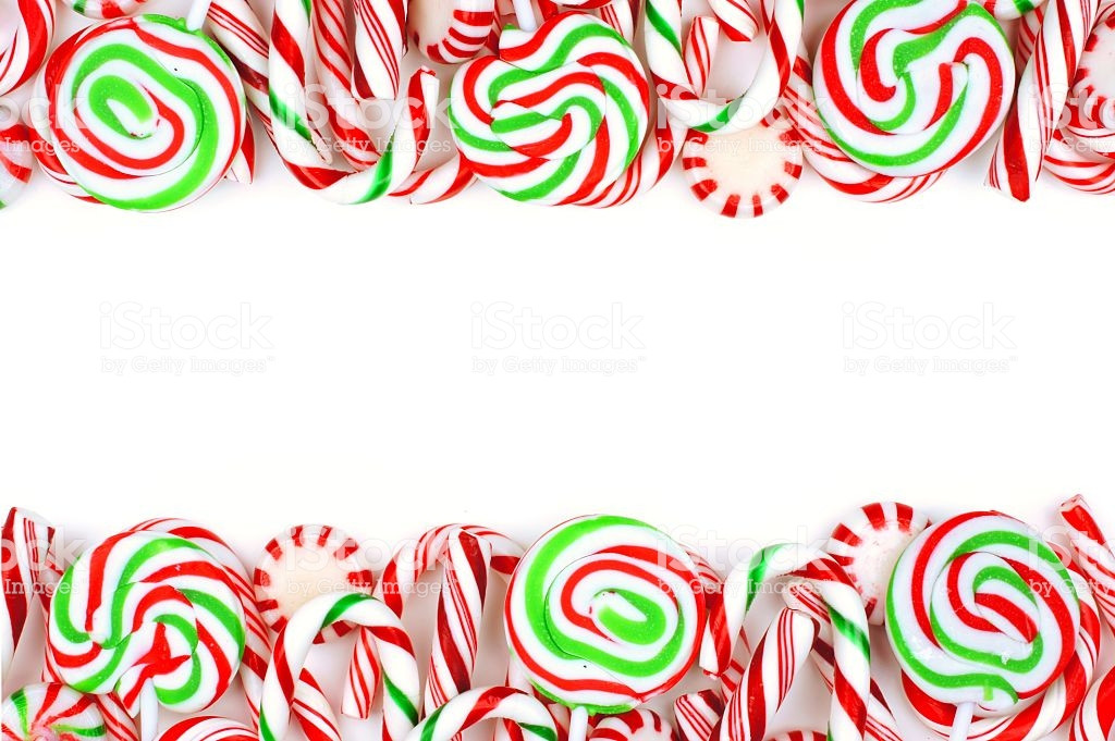 Christmas Candy Border  Christmas Candy Double Border Over A White Background