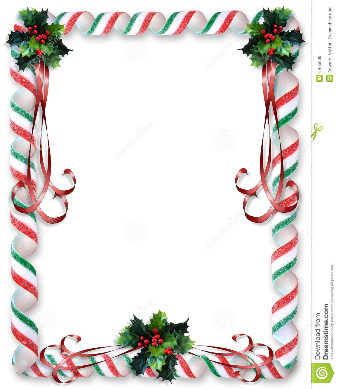 Christmas Candy Border  Christmas Candy And Holly Border Stock Illustration