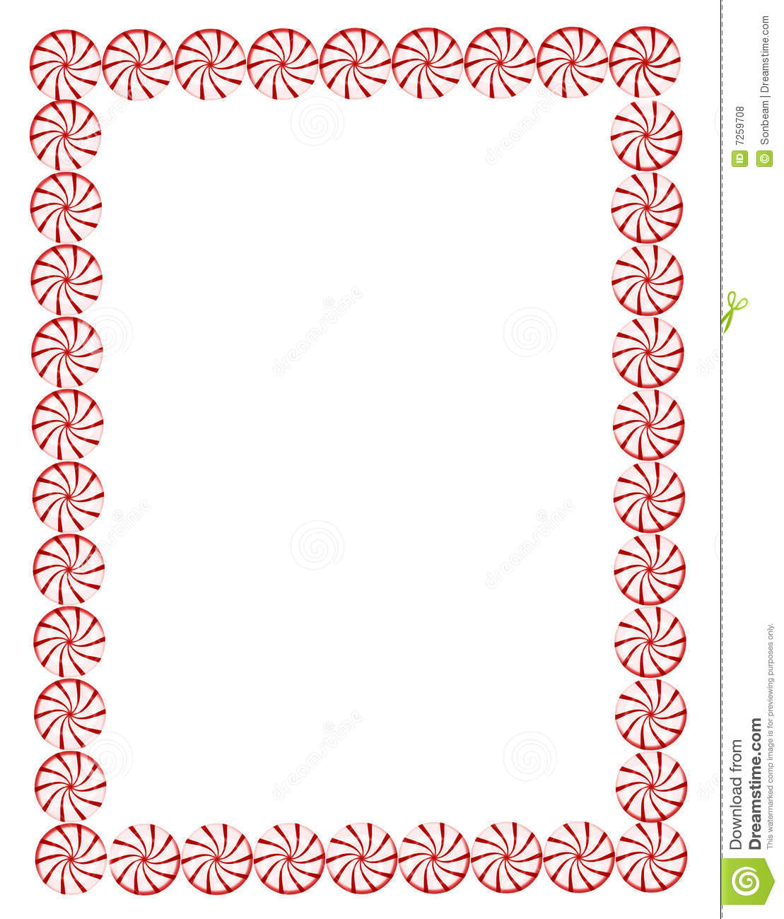 Christmas Candy Border  Royalty Free Stock s Christmas candy border Image