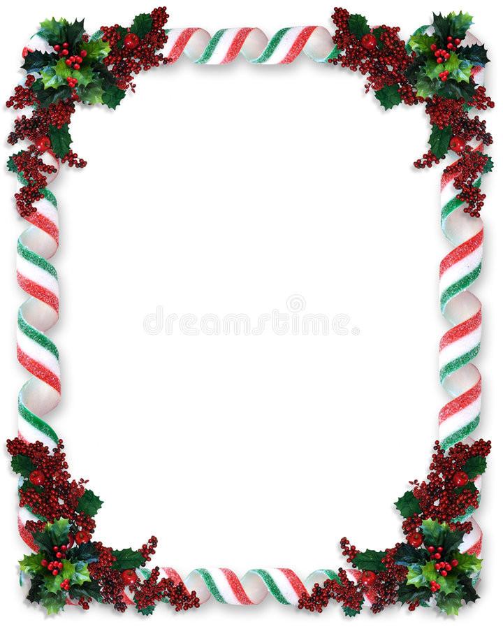 Christmas Candy Border  Christmas Border Ribbon Candy Stock Illustration Image