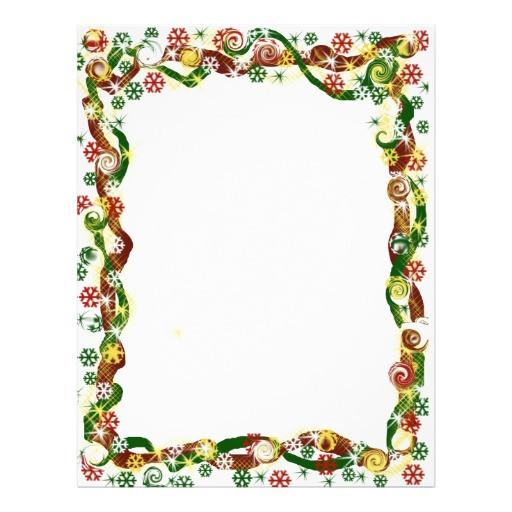 Christmas Candy Border  Christmas Candy Christmas snowflake border Letterhead