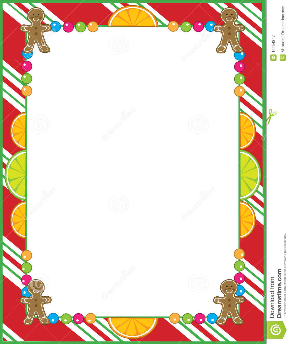 Christmas Candy Border  Christmas Candy Border Royalty Free Stock graphy