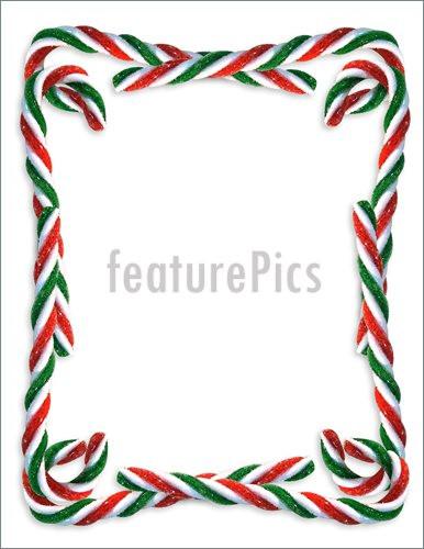 Christmas Candy Border  Templates Christmas Candy Cane Border Stock