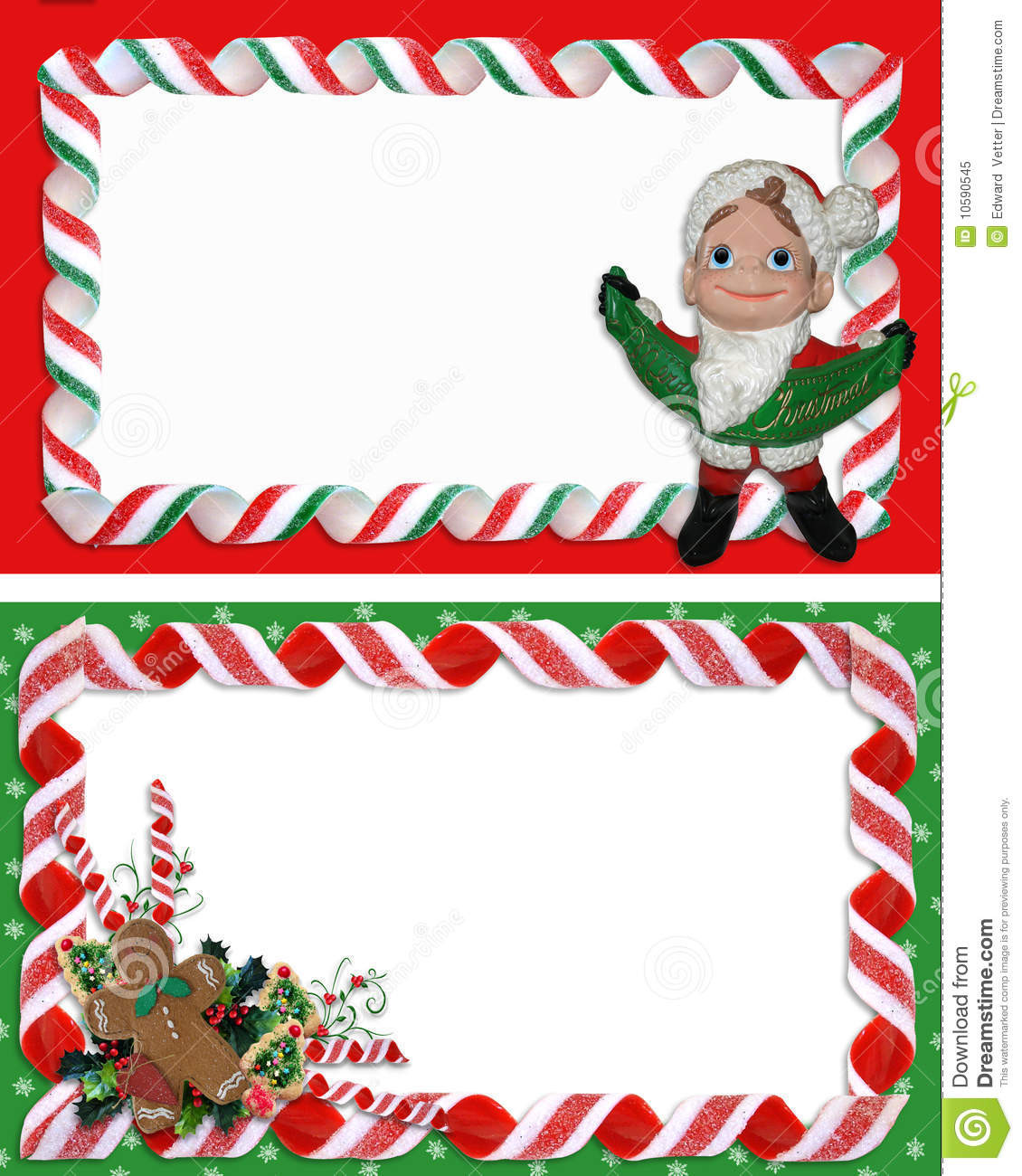 Christmas Candy Border  Christmas Label Borders Ribbon Candy Stock Illustration