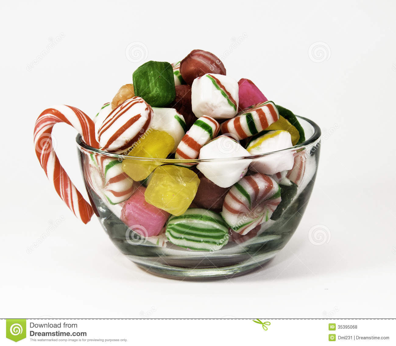 Christmas Candy Bowl  Cup of Christmas Candy stock photo Image of striped