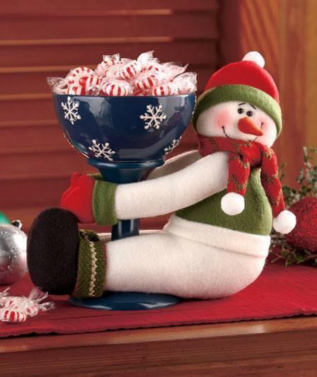 Christmas Candy Bowl  Snowman Holiday Hugger Candy Bowl Christmas Sweet