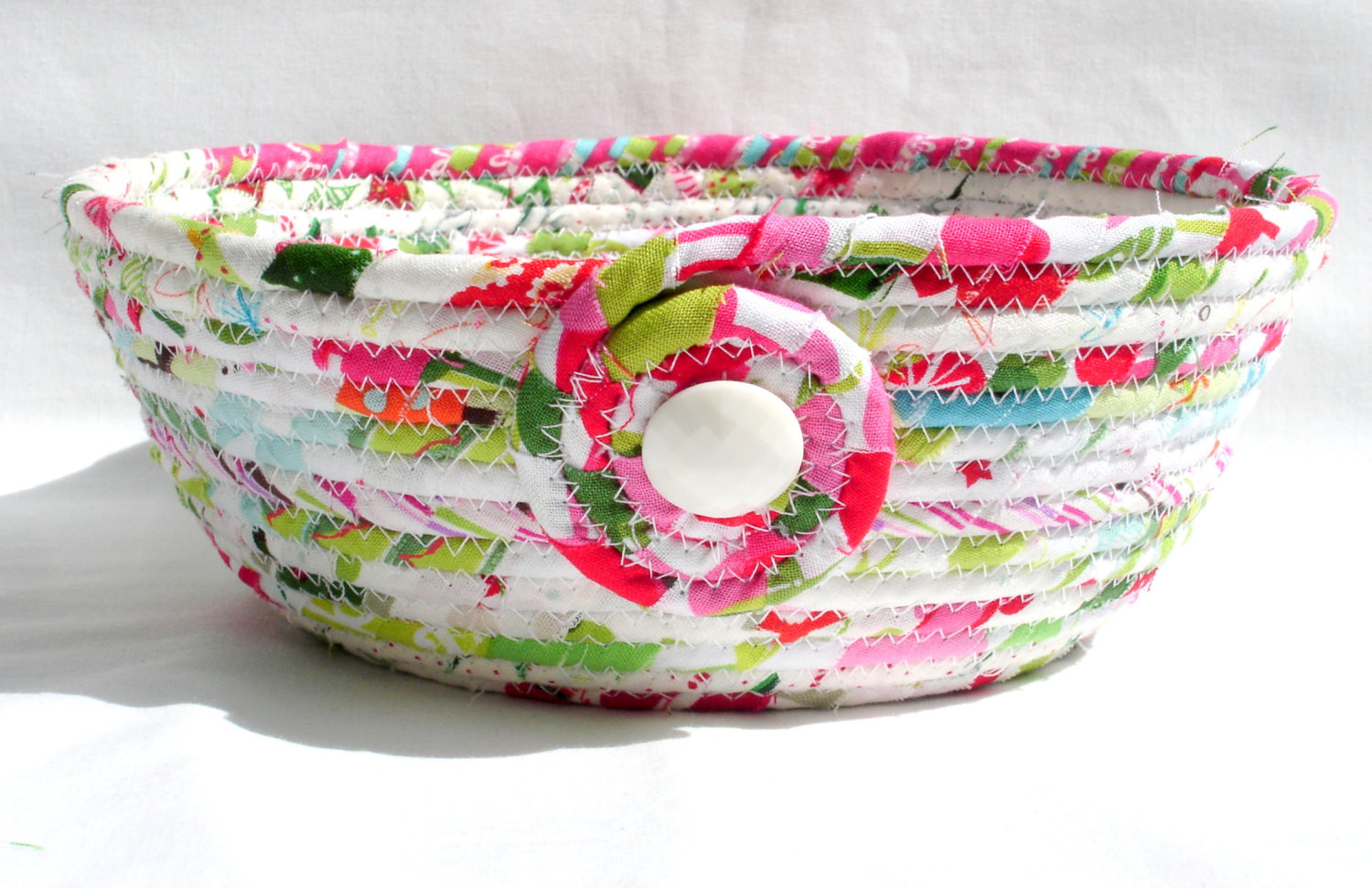 Christmas Candy Bowl  Christmas Candy Coiled Fabric Bowl