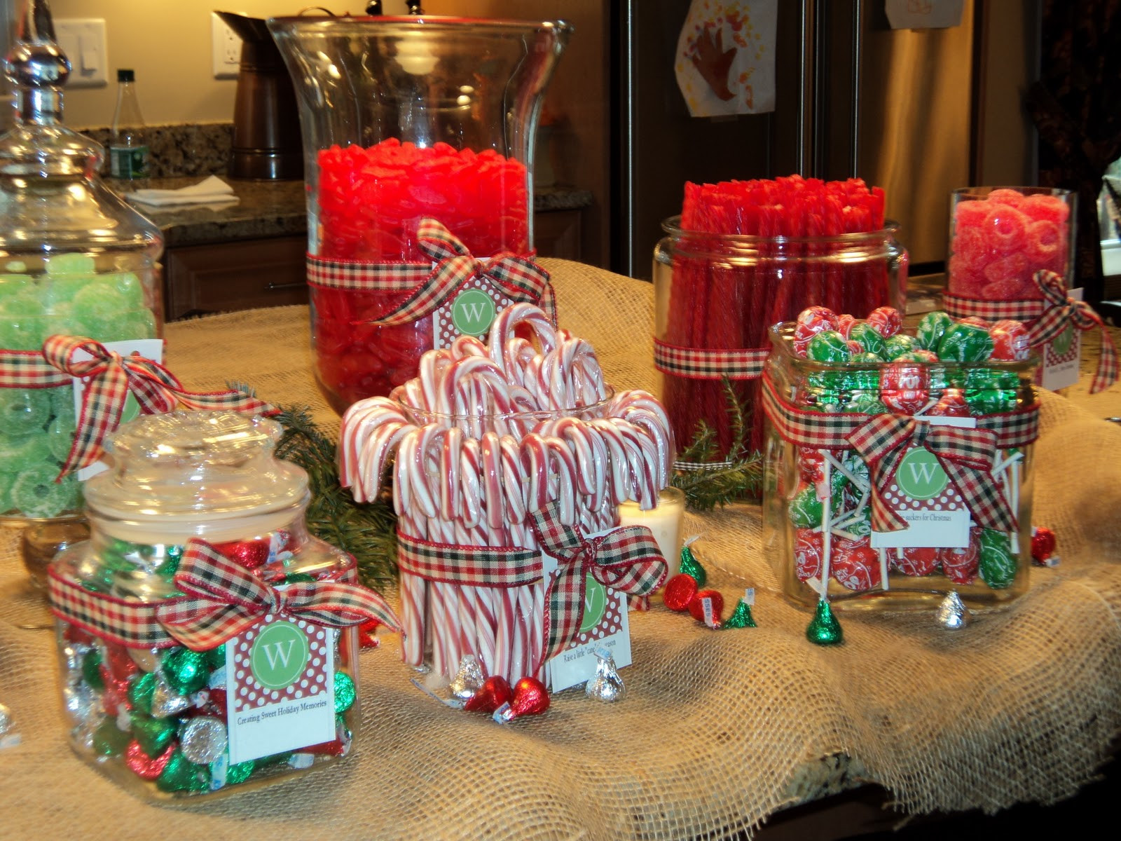 Christmas Candy Buffets  The Fine Living Muse A Farmhouse Christmas Party