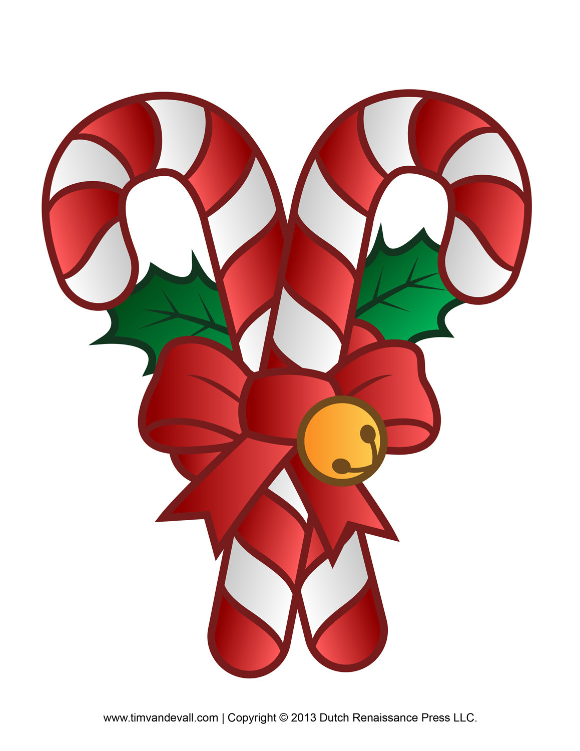 Christmas Candy Cane  Free Candy Cane Template Printables Clip Art & Decorations
