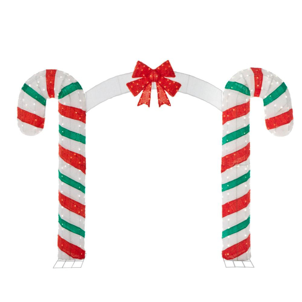 Christmas Candy Cane  Candy Cane Lane 84 in H x 120 in W 350 Lights Christmas