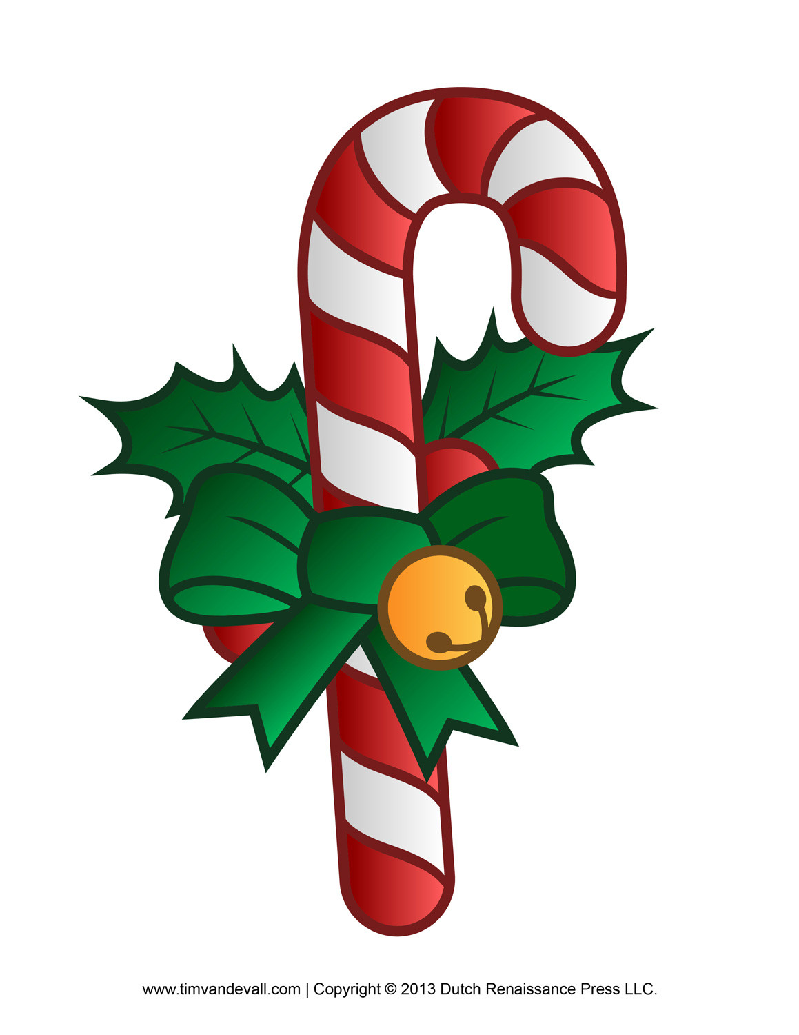 Christmas Candy Cane Images  Free Candy Cane Template Printables Clip Art & Decorations