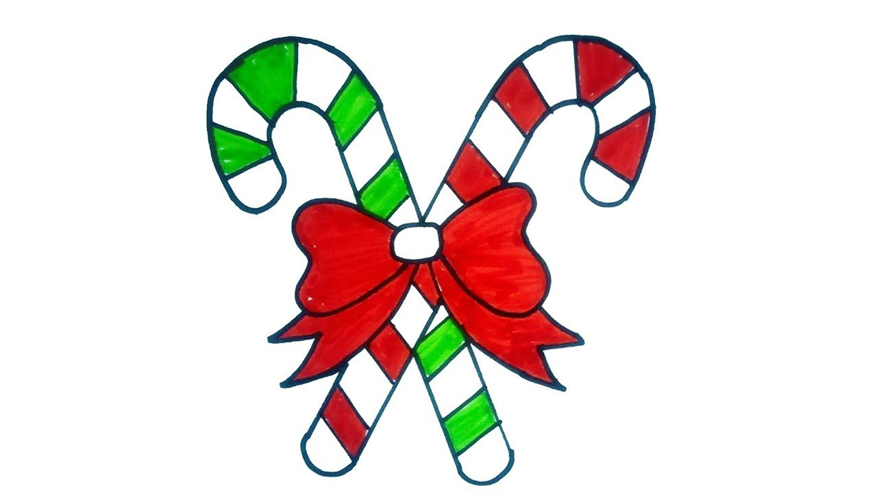 Christmas Candy Cane Images  How to Draw a Cartoon Christmas Candy
