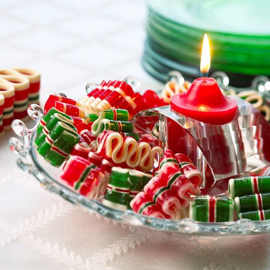 Christmas Candy Centerpieces  Best 25 Ribbon candy ideas on Pinterest