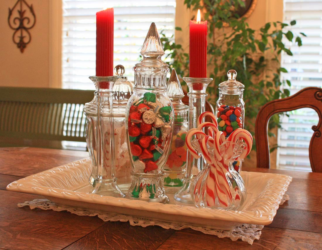 Christmas Candy Centerpieces  Southern Lagniappe A Christmas Candy Centerpiece