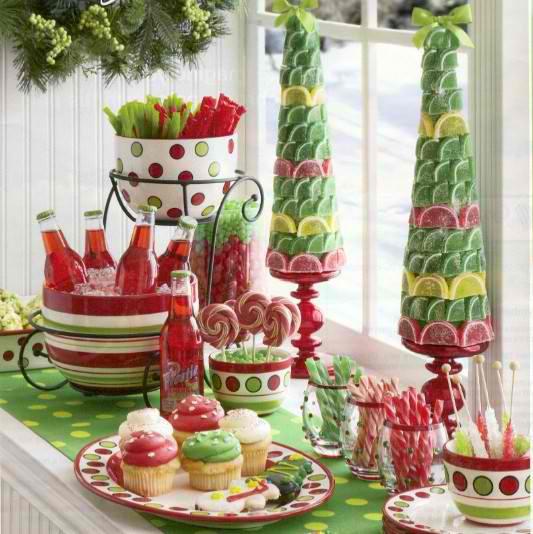 Christmas Candy Centerpieces  36 Impressive Christmas Table Centerpieces Decoholic