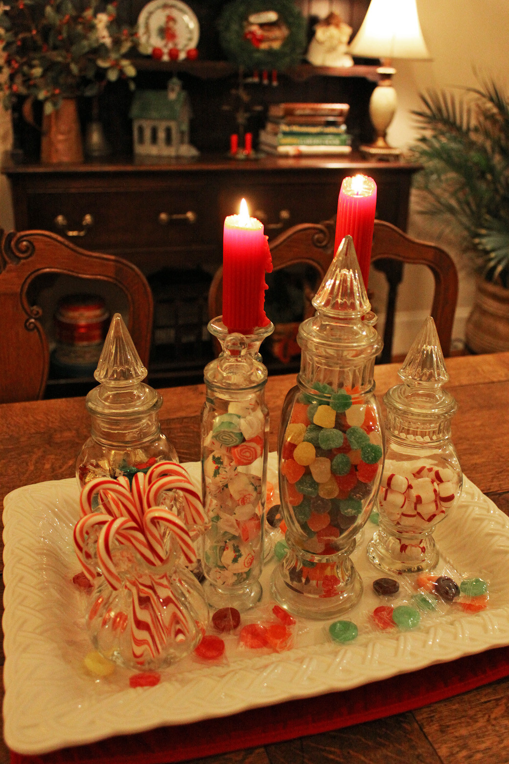 Christmas Candy Centerpieces  Southern Lagniappe Christmas Candy Centerpiece