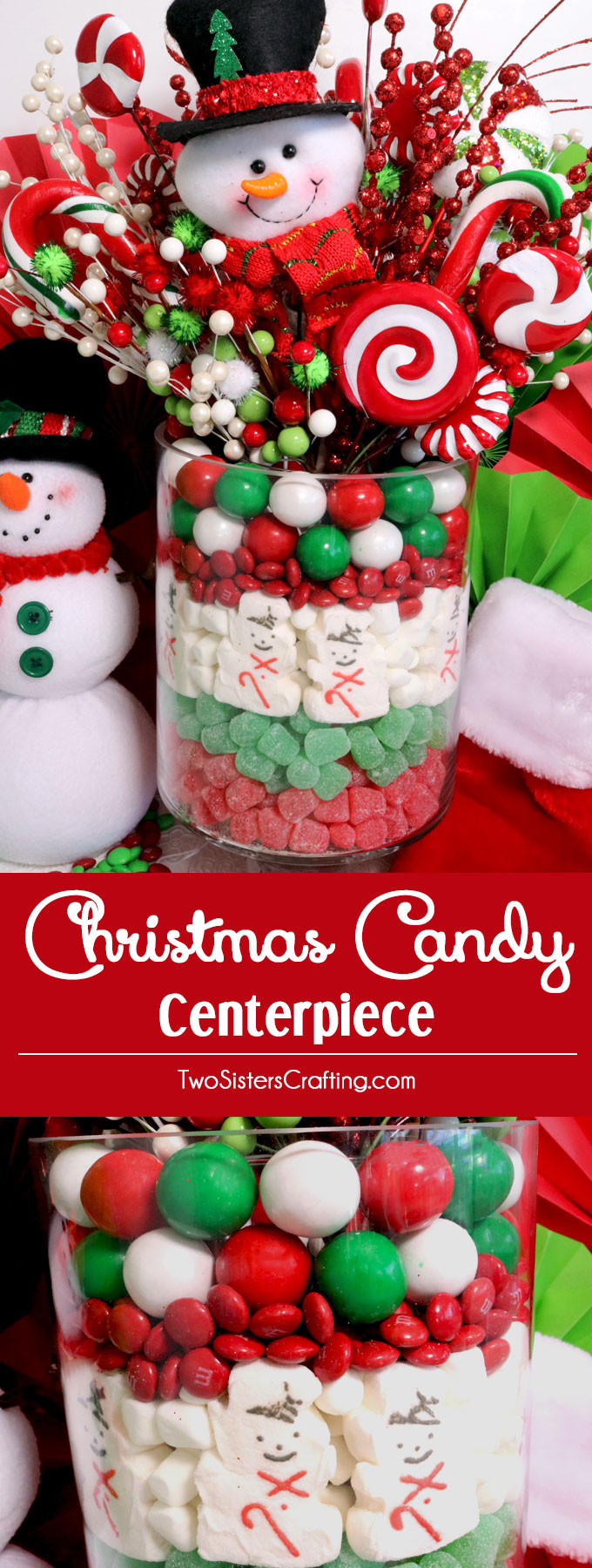 Christmas Candy Centerpieces  Christmas Candy Centerpiece Two Sisters