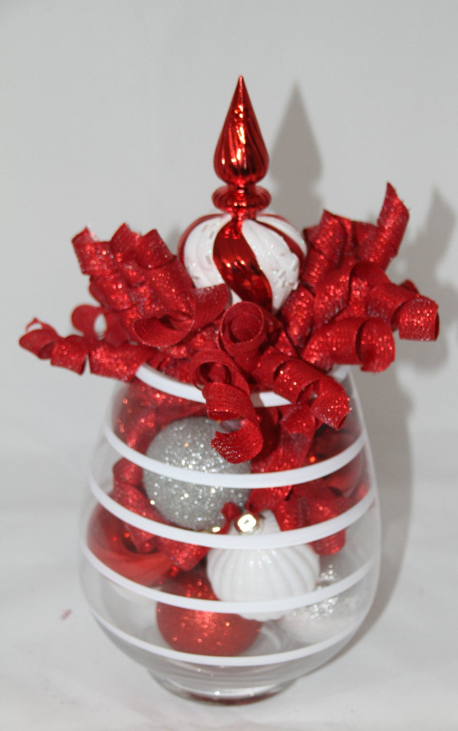 Christmas Candy Centerpieces  Christmas Centerpiece Centerpieces Candy Cane Striped