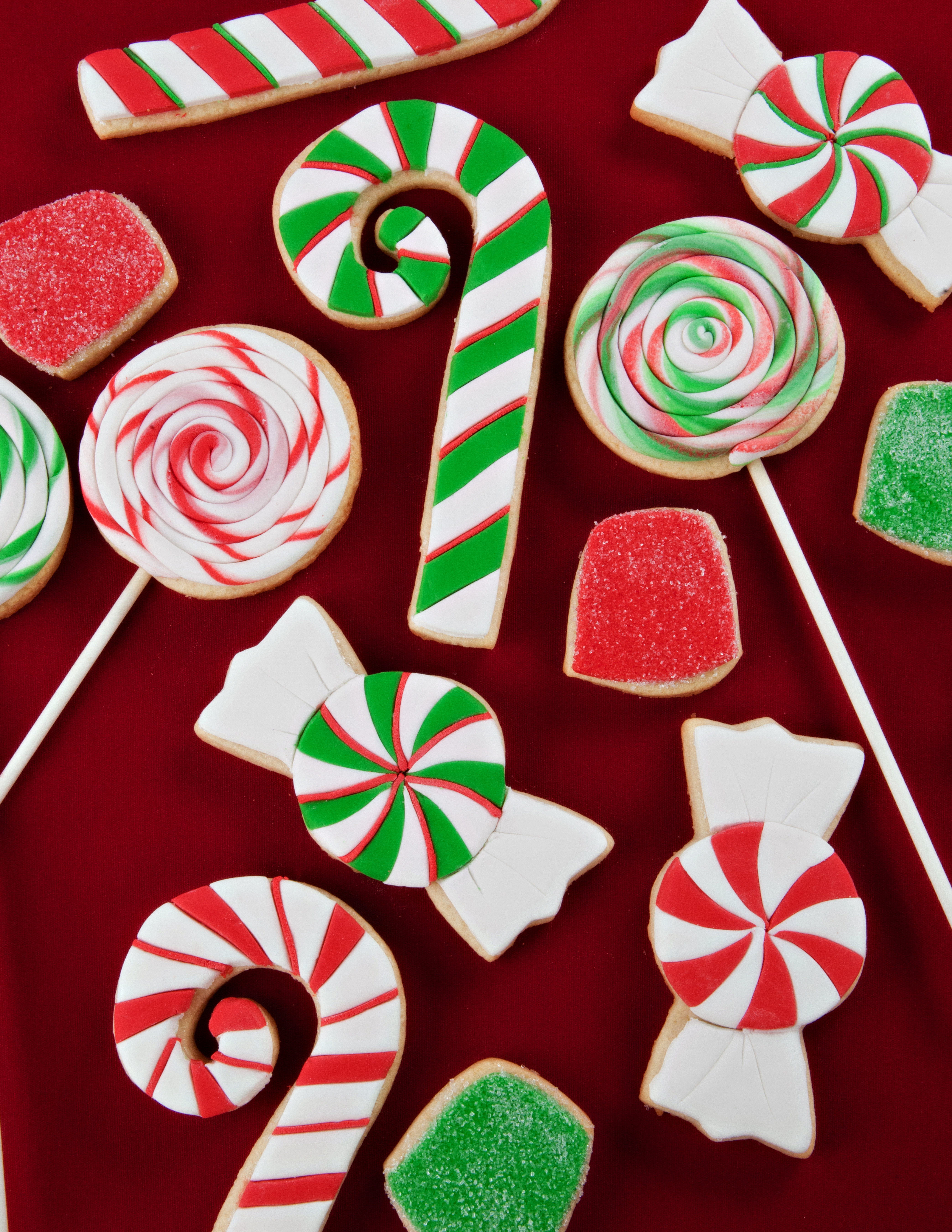 Christmas Candy Cookies  Cookie Decorating