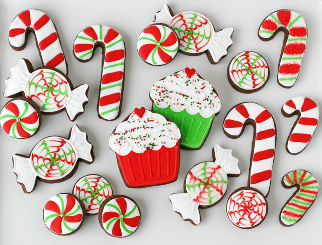 Christmas Candy Cookies  Peppermint Candy Decorated Cookies – Glorious Treats