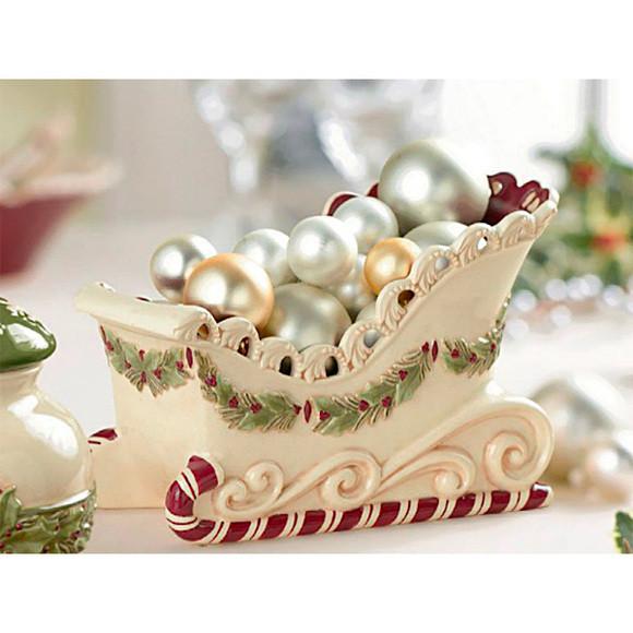 Christmas Candy Dish  Christmas Sleigh Ceramic Candy Dish