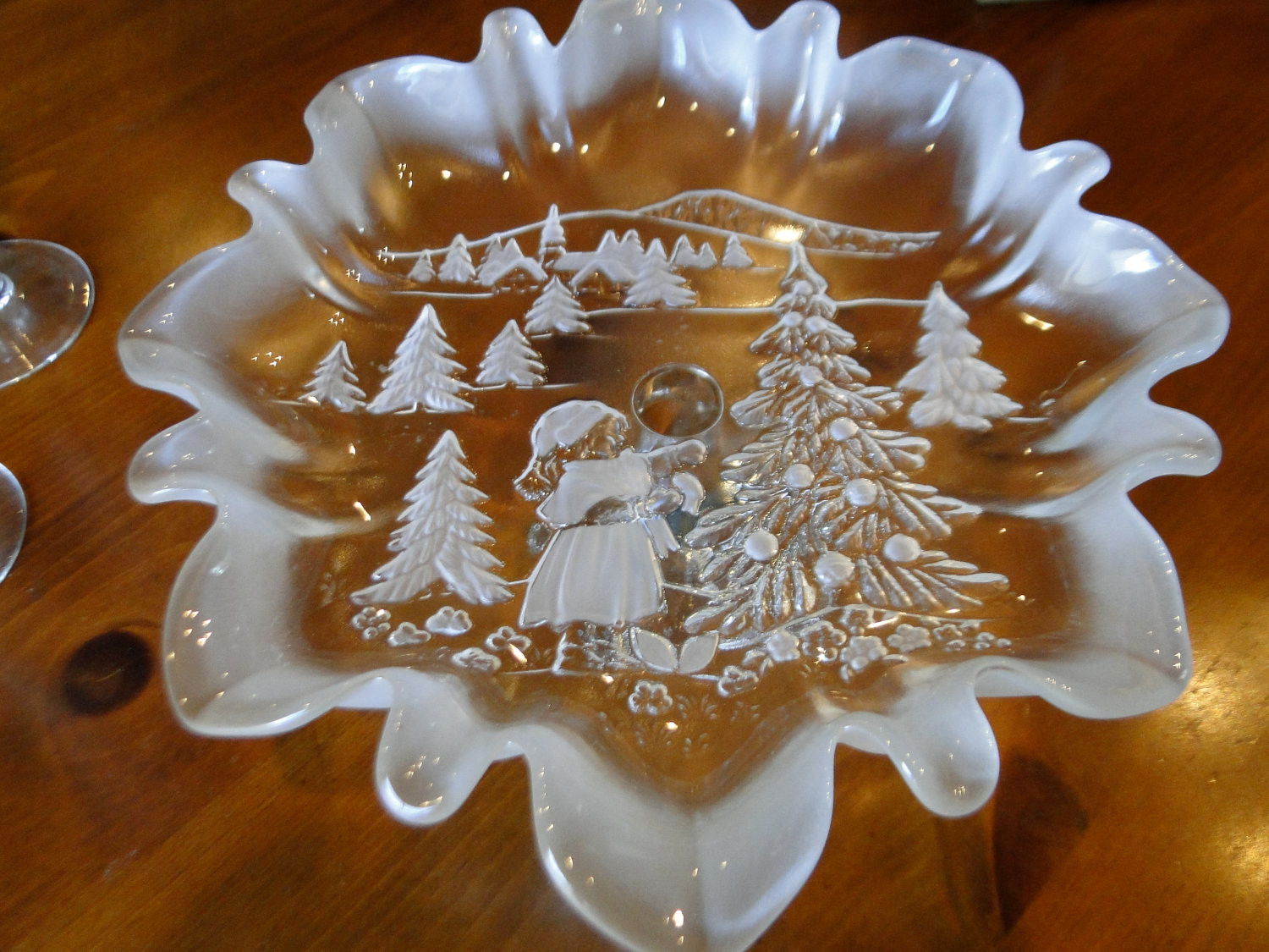 Christmas Candy Dish  Decorative Christmas holiday candy dish serving piece