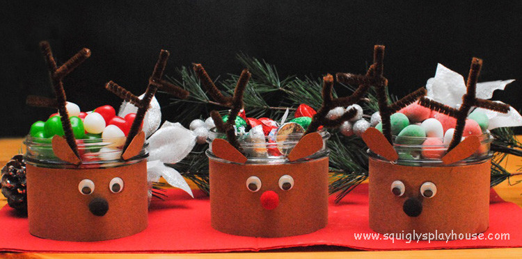 Christmas Candy Dish  Reindeer Candy Dish Christmas Craft