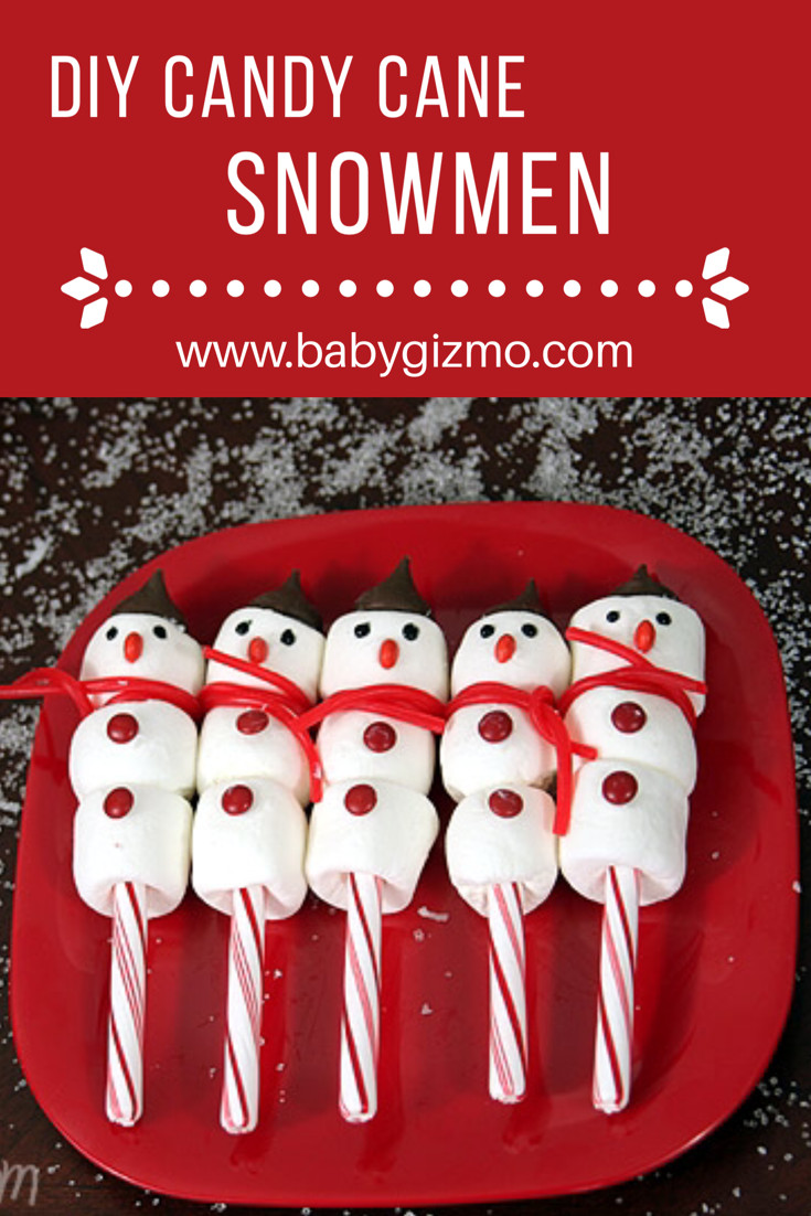 Christmas Candy For Kids  Candy Cane Snowman Tutorial Candy Recipes