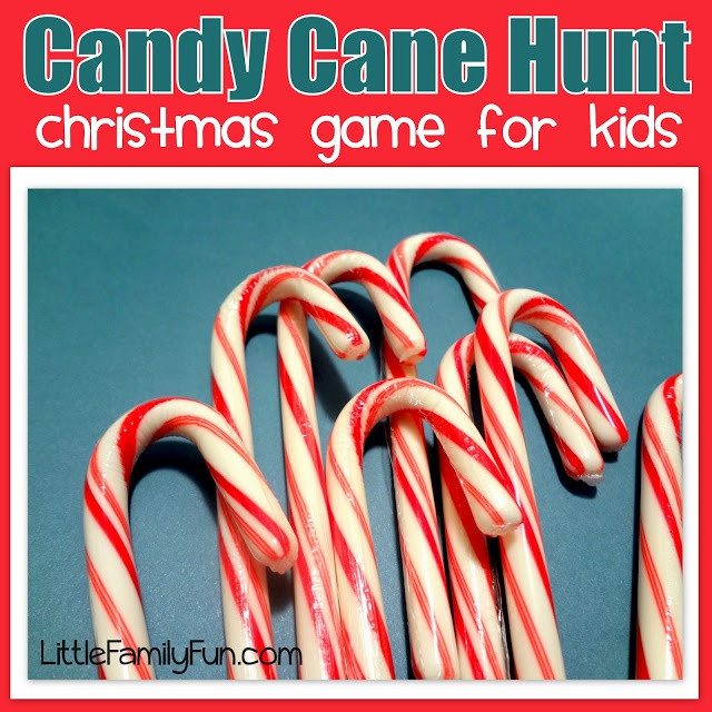 Christmas Candy Game  we can hide candy canes around the house and whoever finds