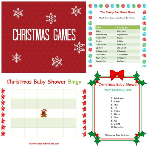 Christmas Candy Game  Free Printable Baby Shower Games My Practical Baby