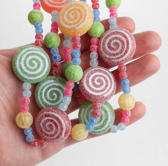 Christmas Candy Garland  Sugary Artificial Candy Garland Christmas Garlands