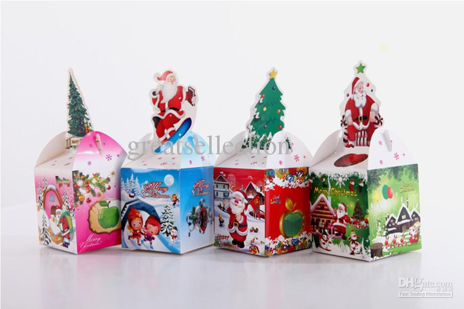 Christmas Candy Gift Boxes  Christmas Gift Box Packing Foldable Paper Box Red Green