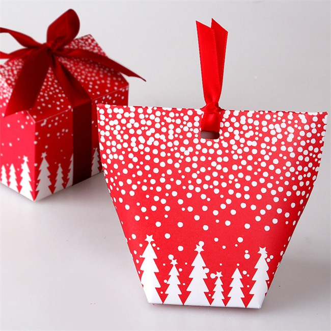 Christmas Candy Gift Boxes  Small candy boxes Christmas tree packaging t box of