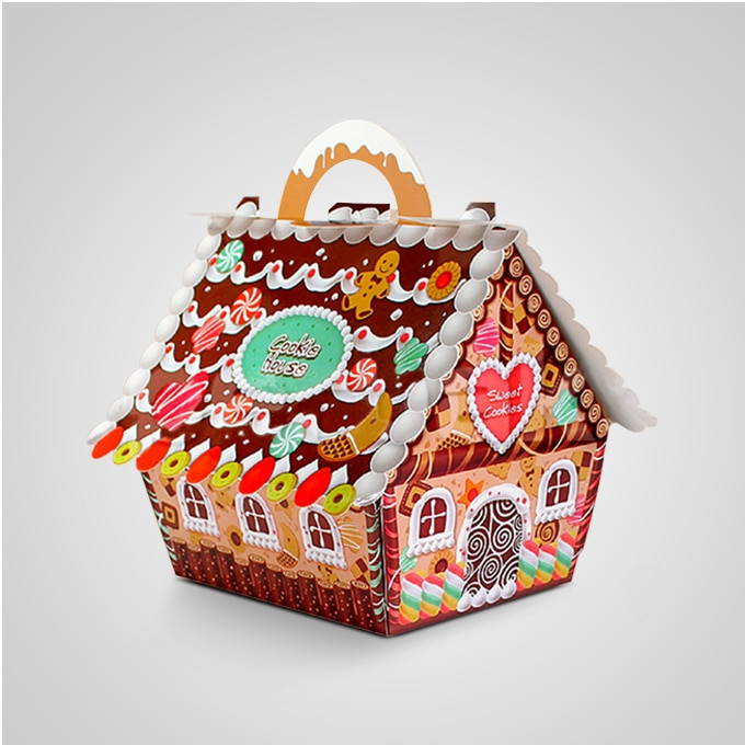 Christmas Candy Gift Boxes  Aliexpress Buy 50pcs Small house candy boxes