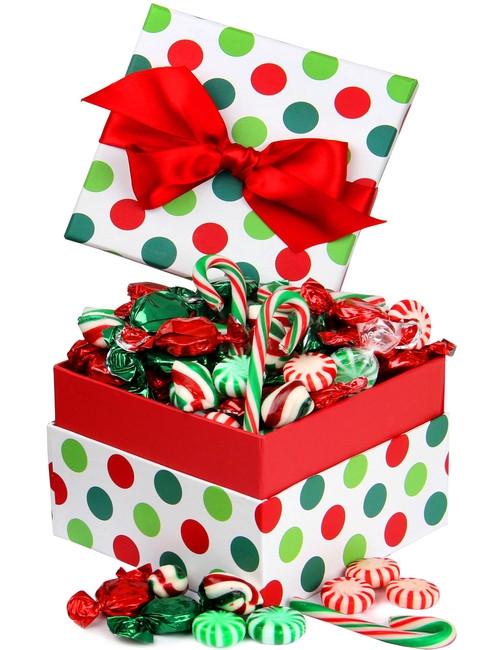 Christmas Candy Gift Boxes  Christmas Jovial Dot Candy Gift Box • Christmas Candy