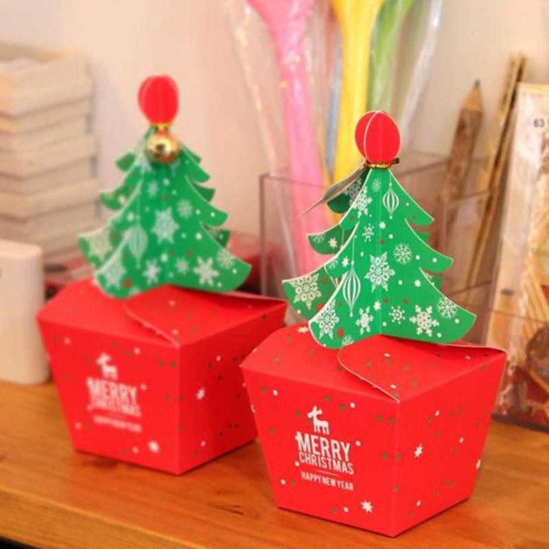 Christmas Candy Gift Boxes  Christmas 2017 Paper Gift Box Candy Box Fit Wedding Party